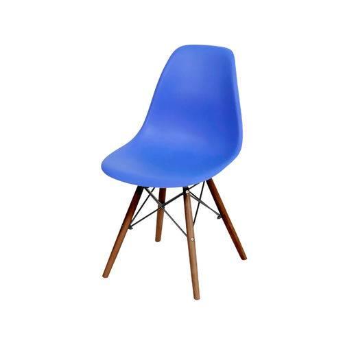 Cadeira Eames Dkr Base Escura - Azul Escuro