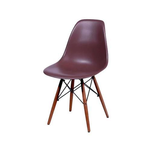 Cadeira Eames Dkr Base Escura - Cafe