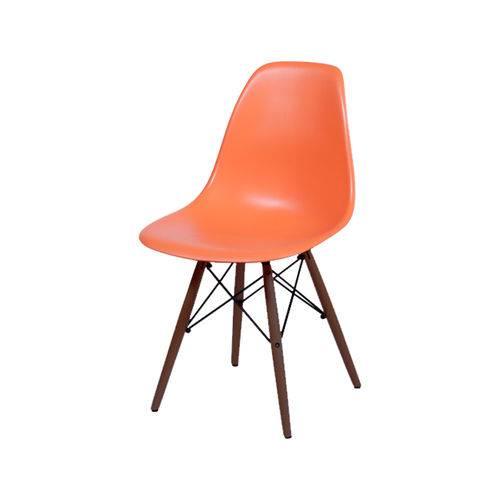 Cadeira Eames Dkr Base Escura - Laranja