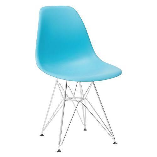 Cadeira Eames DKR - Eiffel - Azul Tiffany - Base Cromada