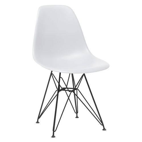 Cadeira Eames DKR - Eiffel - Cinza Claro - Base Preta