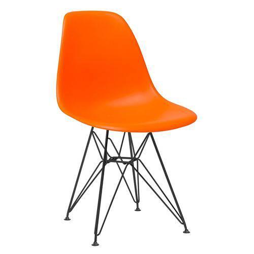 Cadeira Eames DKR - Eiffel - Laranja - Base Preta