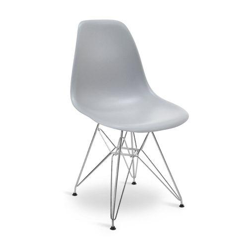 Cadeira Eames DSR Cinza Cinza