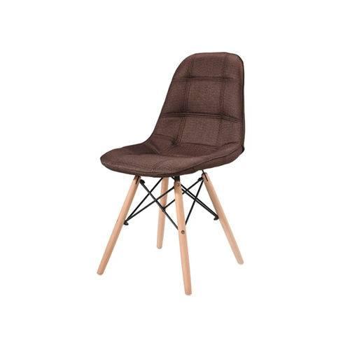Cadeira Eames Dsw Linho - Marrom