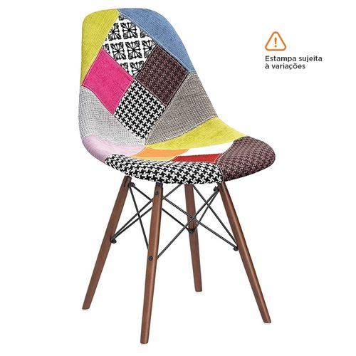 Cadeira Eames DSW - Patchwork - Madeira Escura
