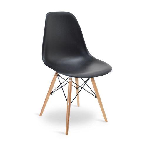Cadeira Eames DSW Preta Preta