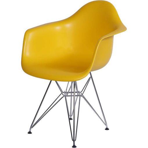 Cadeira Eames Eiffel Amarela com Braços OR Design 1121