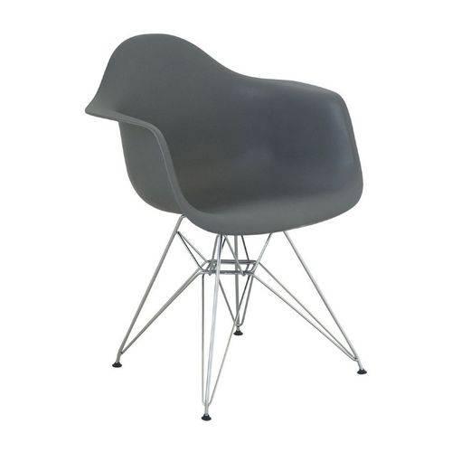 Cadeira Eames Eiffel DAR Cinza com Braço 1121 Or Design