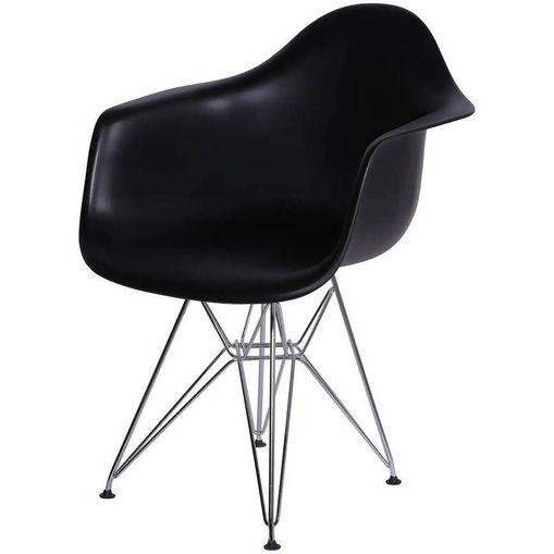 Cadeira Eames Eiffel Preta com Braços OR Design 1121