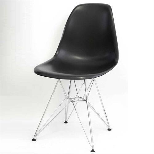 Cadeira Eames Eiffel Preta Pp Or Design 1102 - Preto