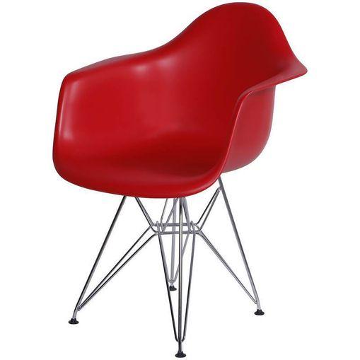 Cadeira Eames Eiffel Vermelha com Braços OR Design 1121
