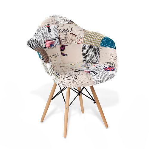 Cadeira Eames Estofada DAW Patchwork Retalho Retalho