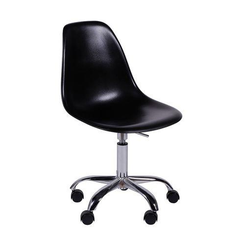 Cadeira Eames Office Preta Preta