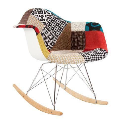 Cadeira Eames RAR Balanço - Patchwork - Madeira Clara