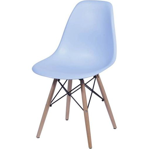 Cadeira Eames Wood Azul PP OR Design 1102B