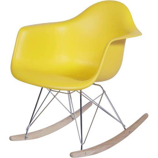 Cadeira Eames Wood Balanço Amarela com Braços OR Design 1122