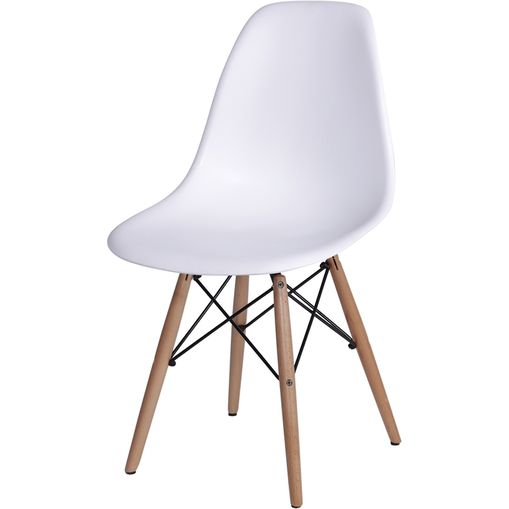 Cadeira Eames Wood Branca PP OR Design 1102B
