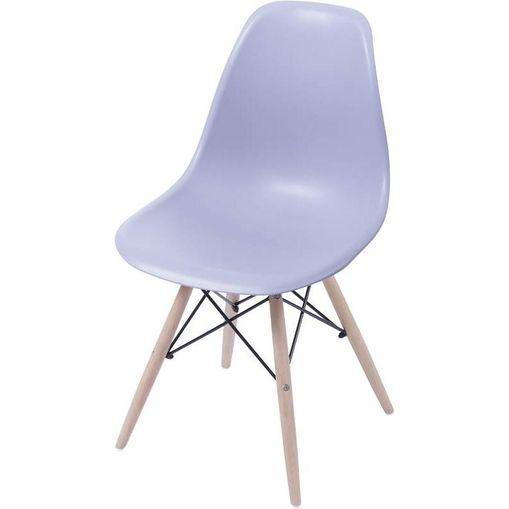 Cadeira Eames Wood Cinza PP OR Design 1102B
