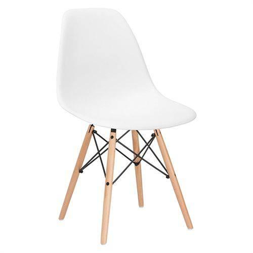 Cadeira Eames Wood DSW - Branco Fosco