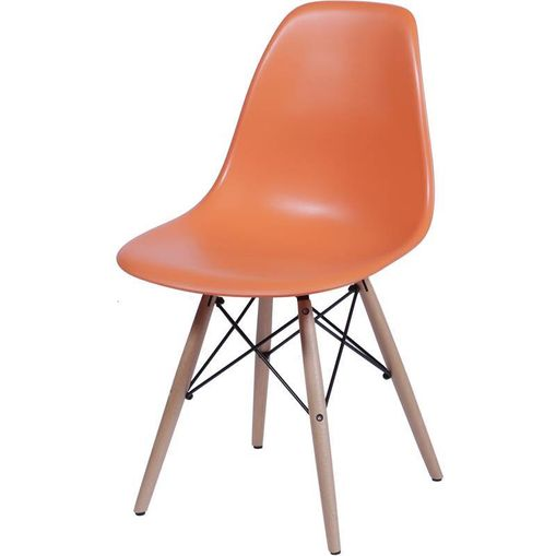 Cadeira Eames Wood Laranja PP OR Design 1102B