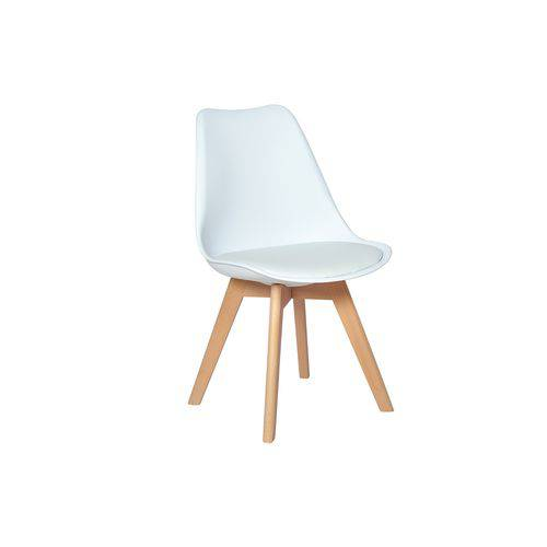 Cadeira Eames Wood Leda Design - Branca