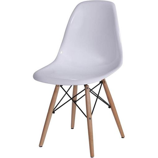 Cadeira Eames Wood PC Branca Or Design OR-1101