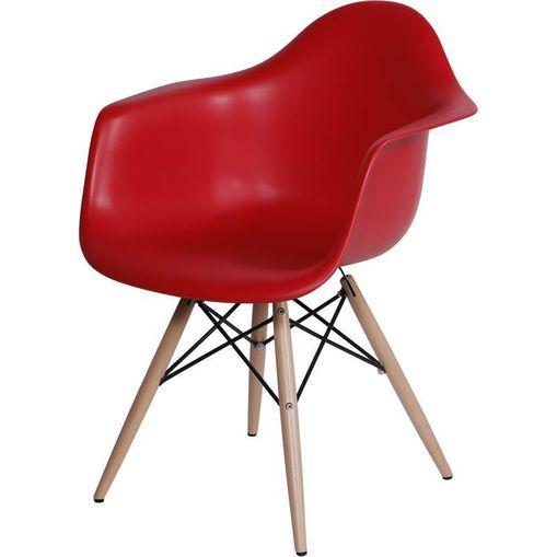 Cadeira Eames Wood Vermelha com Braços OR Design 1120