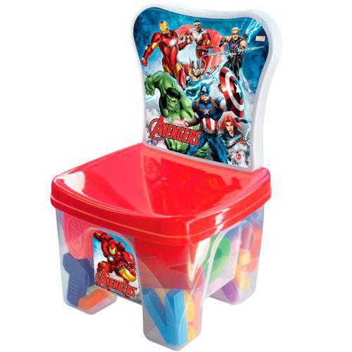 Cadeira EducaKids Avengers com Peças Educativas 2386 - Líder