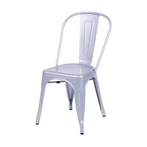 Cadeira em Aço Cinza Metálico