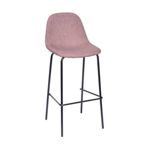 Cadeira em Linho Base Metal Marrom