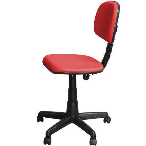 Cadeira Escritório Secretária Vermelha Giratória com Regulagem de Altura - Pethiflex