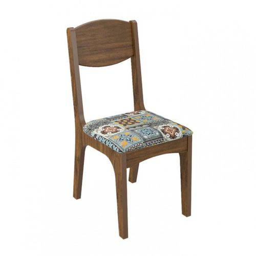 Cadeira Estofada 100% Mdf Ca12 Dalla Costa - Nobre/ladrilho