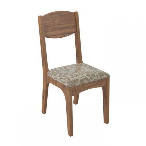 Cadeira Estofada 100% Mdf Ca12 Dalla Costa - Nobre/milano