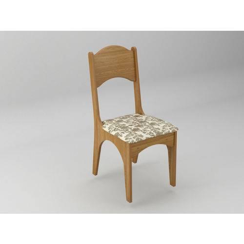 Cadeira Estofada Freijo-floral Claro - Dlca18 2 J11 - Dalla Costa