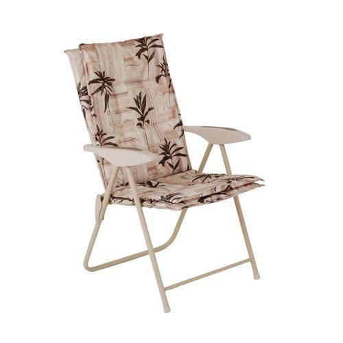 Cadeira Estofada Kairos Floral 9007 Mor