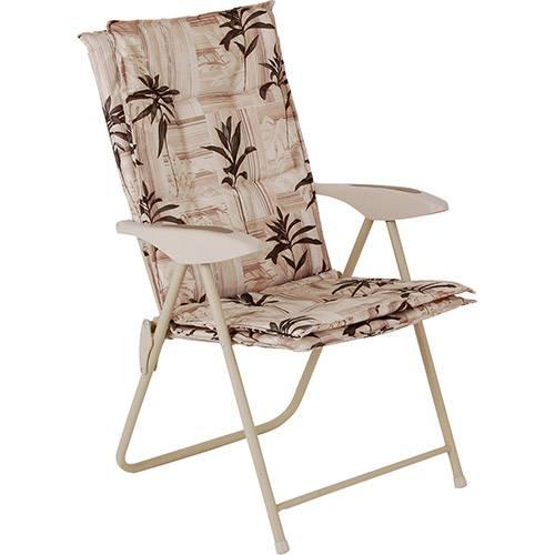 Cadeira Estofada Kairos Floral Poliéster - Mor