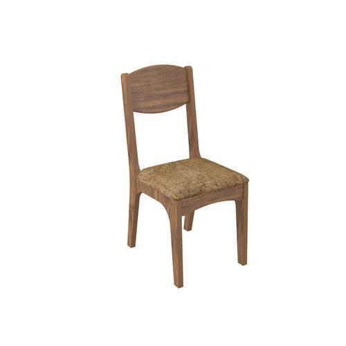 Cadeira Estofada - Nobre/chenille Marrom Ca12/2 Nm - Dalla Costa