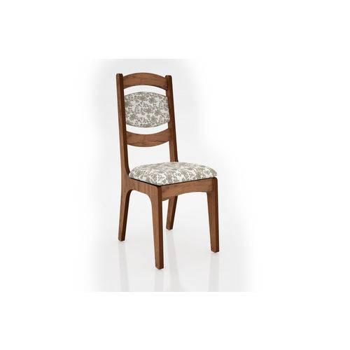 Cadeira Estofada Nobre - Floral Claro - Dlca27/2 N11 - Dalla Costa