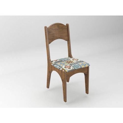 Cadeira Estofada Nobre-ladrilho - Dlca18 2 N10 - Dalla Costa