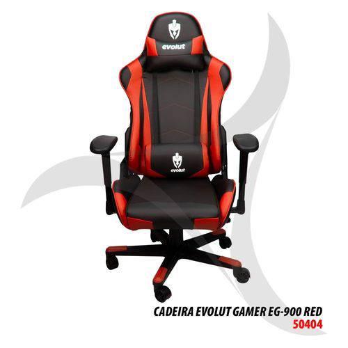 Cadeira Evolut Gamer Eg-900 Vermelha/Preta