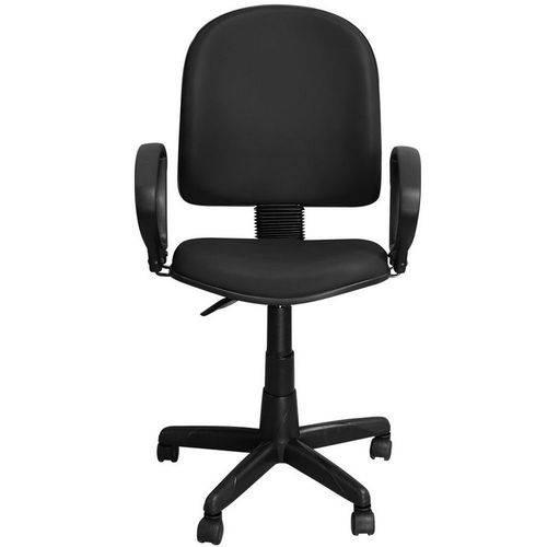 Cadeira Excellence Preta Giratória com Regulagem e Braço de Apoio - Pethiflex