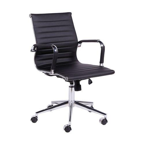 Cadeira Executiva Esteirinha Office - Couro Sintético Preto Preto