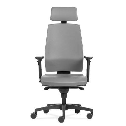 Cadeira Flexform Gamer Klass Grey Leather