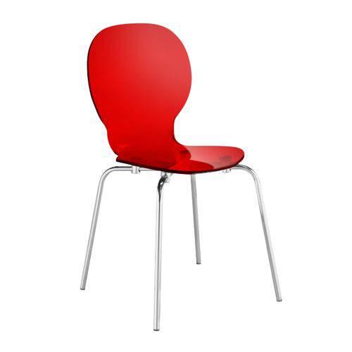 Cadeira Formiga - Vermelho Translúcido