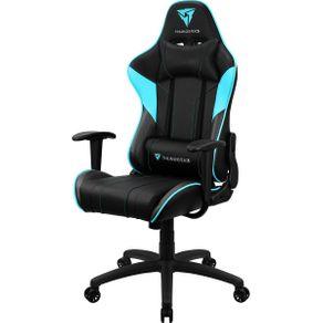 Cadeira Gamer Profissional THUNDERX3 EC3 Cyan Preto com Ciano