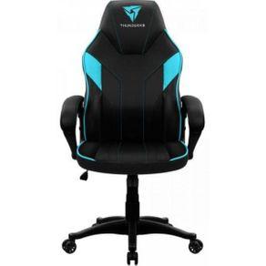 Cadeira Gamer Profissional THUNDERX3 EC1 Cyan Preto com Ciano