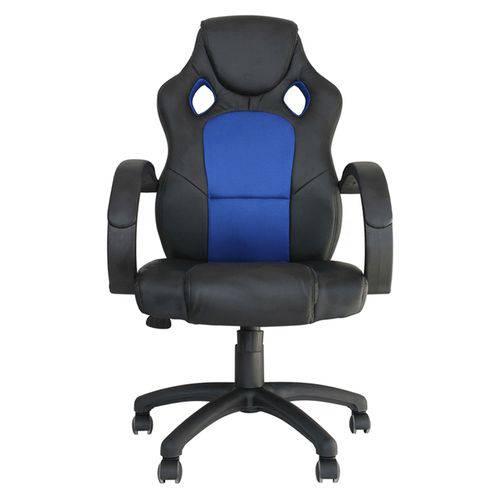 Cadeira Gamer Racer Preta e Azul