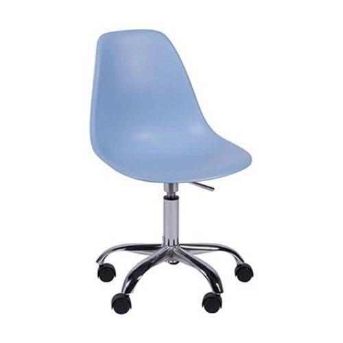 Cadeira Giratória em Polipropileno Azul