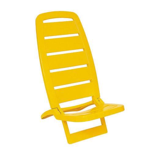 Cadeira Guarujá de Praia Amarelo Basic - Tramontina