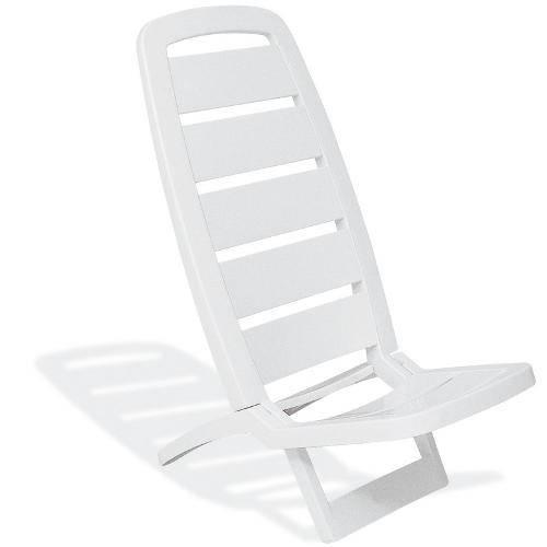 Cadeira Guarujá de Praia Branca BASIC - TRAMONTINA